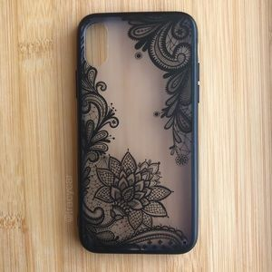 Accessories - NEW Iphone X Black Floral Lace Case